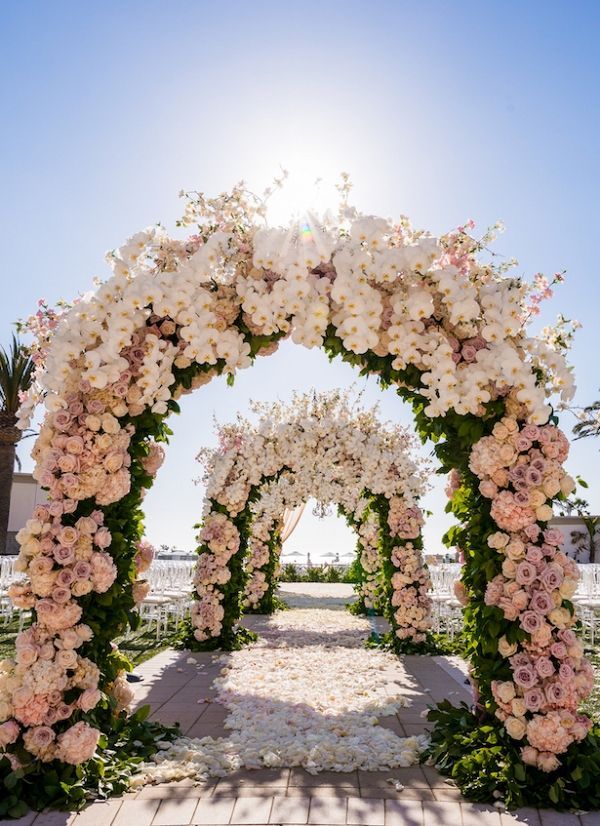 Luxury Wedding Arch   Lin and Jirsa Photography on  @BelleMagazine via @aislesociety