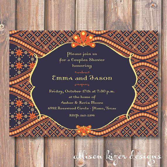Morocco Printable Wedding Shower Invitation by AllisonKizerDesigns, $15.00