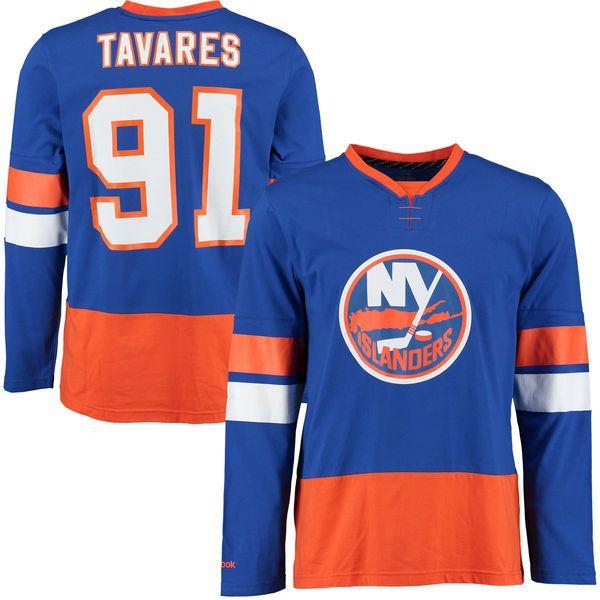 John Tavares New York Islanders Reebok Edge Long Sleeve Jersey T-Shirt - Royal - $39.99