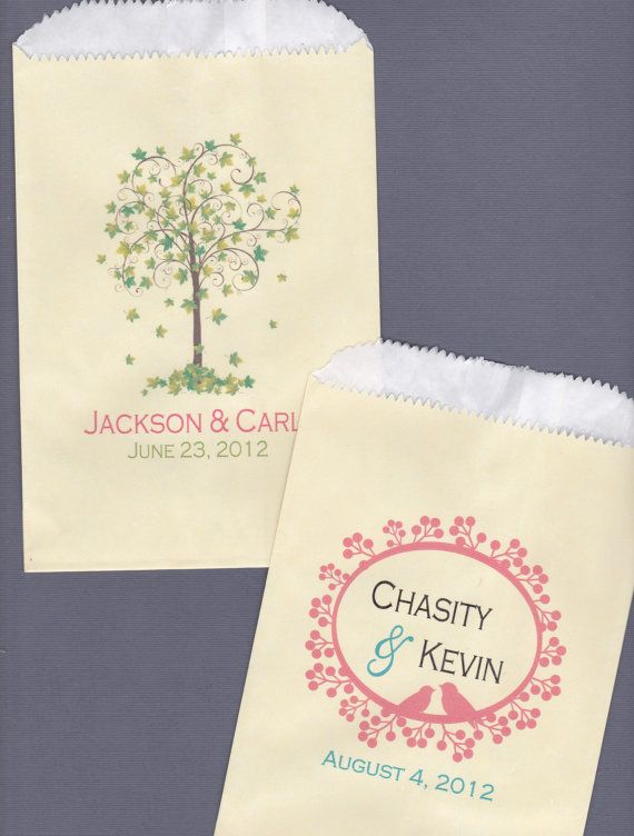 Wedding Candy Bar Candy Buffet Favor Bags Cookie by wreathartist, $65.00