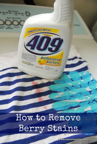 Cleaning tip: Remove berry stains with 409.
