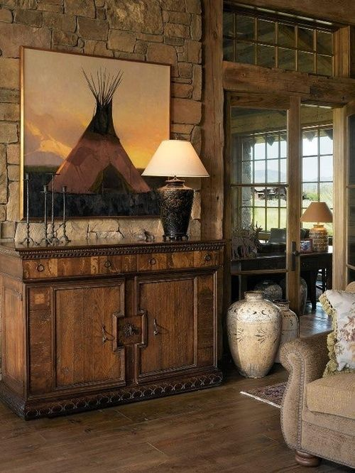 589 best COWBOY DCOR images on Pinterest Haciendas Log cabins