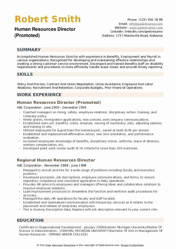 Human Resources Director Resume Lovely Human Resources Director Resume Samples In 2020 Human Resources Good Resume Examples Manager Resume