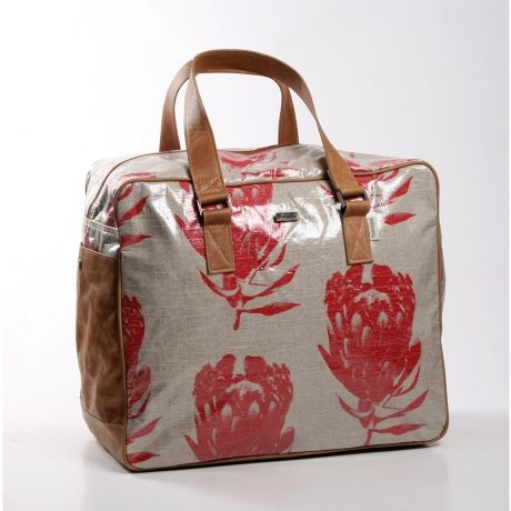 Weekend Travel Bag – Protea Coral from Thandana Bags