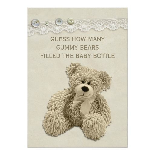8cd12ee186c41debbf760134a5f845d0--vintage-teddy-bears-guessing-games Baby Shower E Card