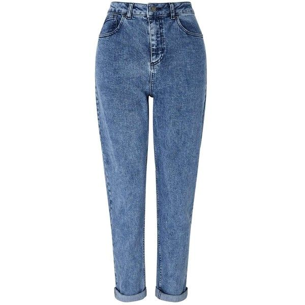 Miss Selfridge Dark Acid Wash MOM Jeans (€48) ❤ liked on Polyvore featuring jeans, pants, bottoms, calça, indigo, miss selfridge, dark-wash jeans, indigo jeans, blue acid wash jeans and dark blue jeans