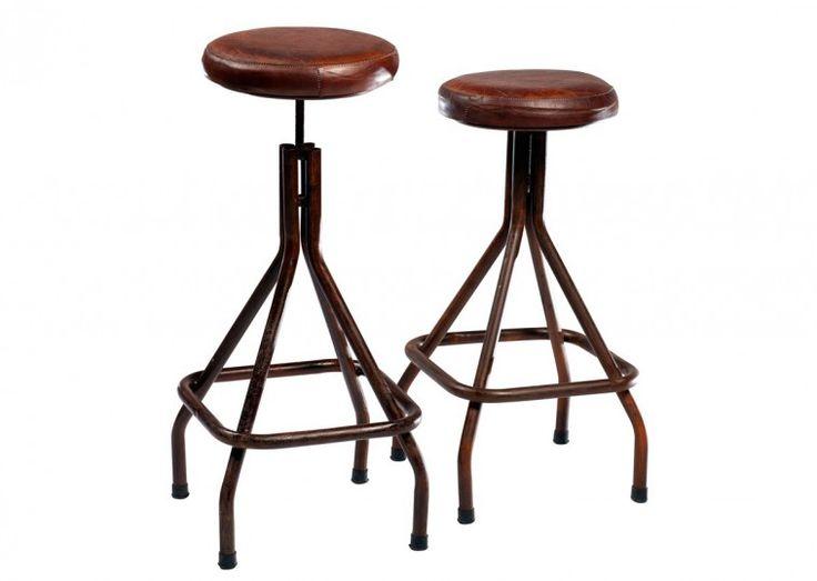 Dan-Form Weet barstol, brunt läder