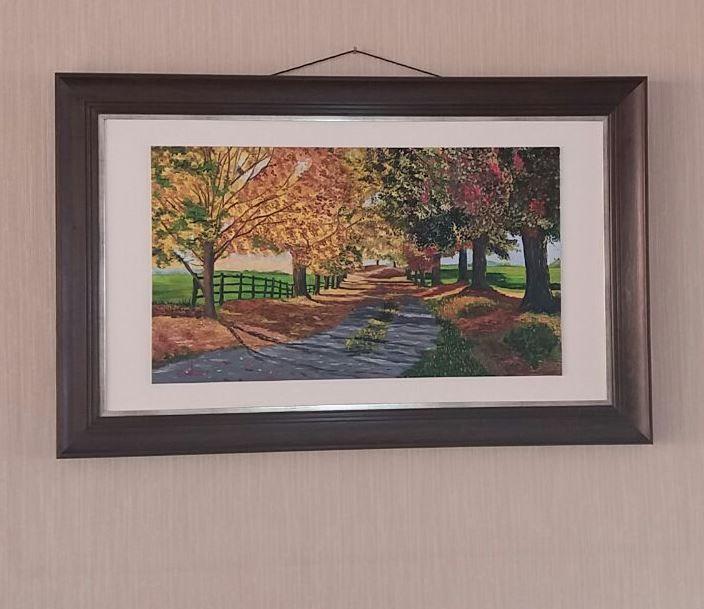 No me canso de decirlo: una pintura con su marco... ¡se ve muuuchoooo mejor! se lo merece.... el cuadro en la foto es de Eudi Cea... ¡bien!