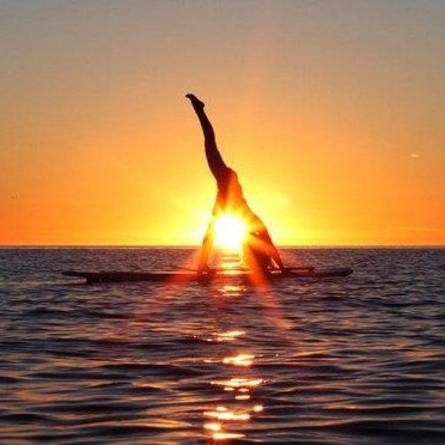 SUP yoga heaven - my new obsession! More inspiration at: http://www.valenciamindfulnessretreat.org