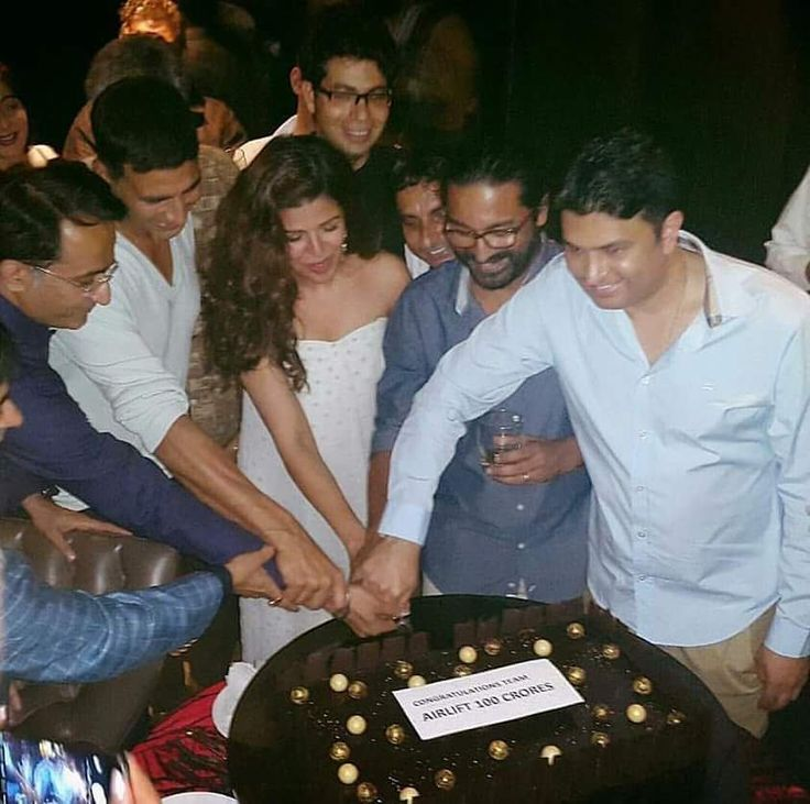 Success party of Team #Airlift with #AkshayKumar and #NimratKaur as they reach the 100 crore club yesterday. Totally well deserved.  #successparty #celebrities #actor #actress #film #movie #bollywood #cinema #bollywoodactor #bollywoodactress #bollywoodstyle #bollywoodfashion #photoshoot #photooftheday #picoftheday #instadaily #followus #followme #filmywave