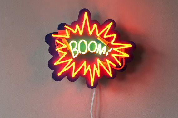 BOOM! - Pop Art Neon Sign