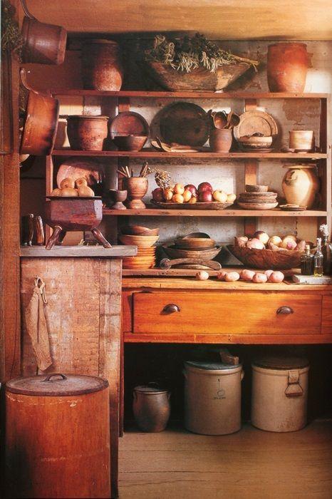 wooden kitchen shelves~