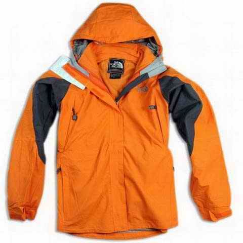 Authentic North Face Womens Hyvent Jacket Waterproof Orange Black Outlet Online - north face bag for kids