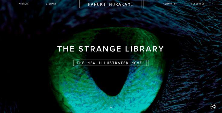 Site of the Day - December 27th, 2014. Haruki Murakami - By Bluecadet (U.S.A.). #UI #UX #inspiration #web #webdesign #design