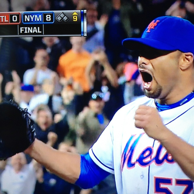 Johan Santana pitches first No-hitter in Mets history and first of his career. He has the heart of a warrior. #nohitter #baseball #mets #johansantana