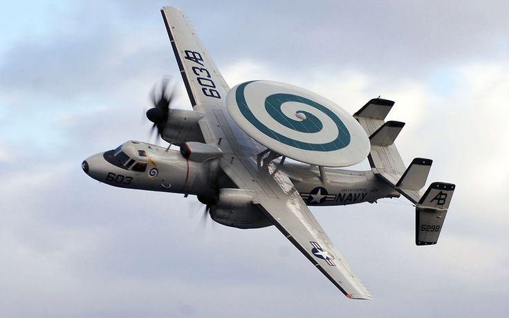 E C Hawkeye Fly Over Sky HD Wallpapers in HD