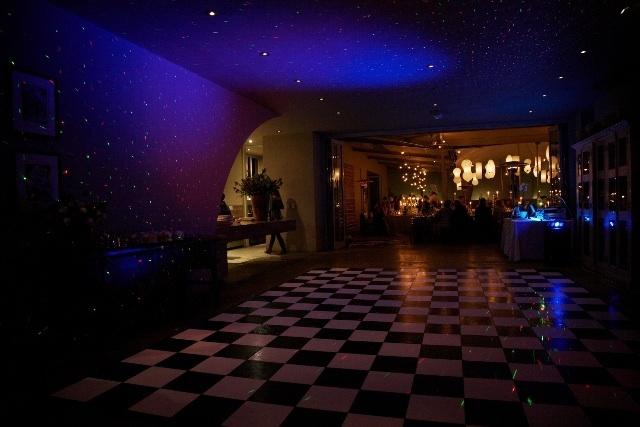 Black & white modular dance floor www.eventsandtents.co.za