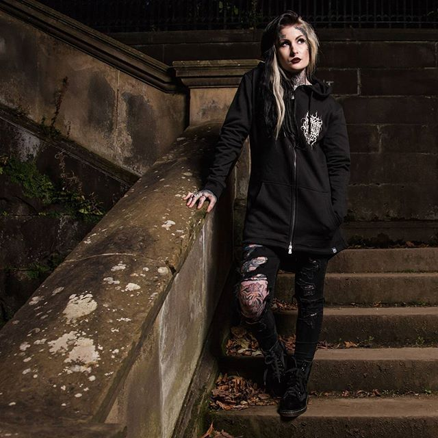 "CRMC X @wirosatan X @viewfromthecoffin ""Aske Til Aske"" Sweat Parka Available at www.crmc-clothing.co.uk 