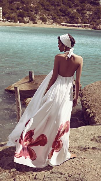 Oh please, let this be me sometime soon...  Flowy dress blowing in the sea breeze.  *sigh*