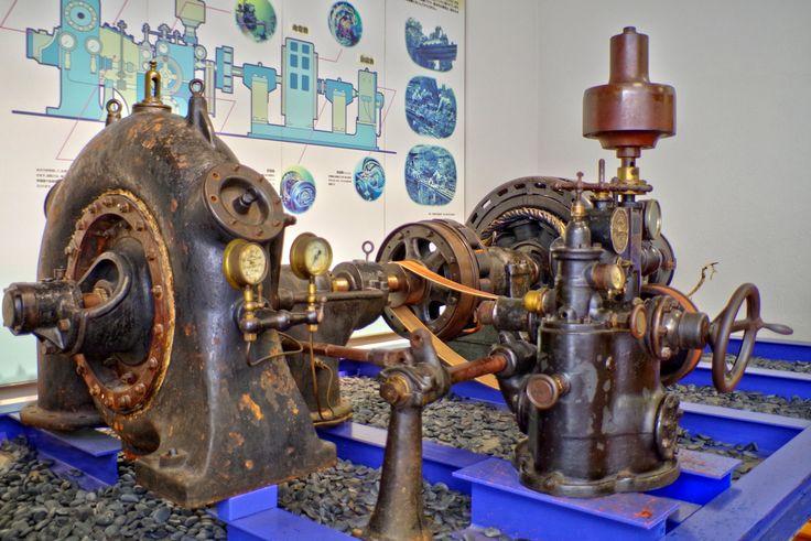 昔の水力発電設備(富山市科学博物館)