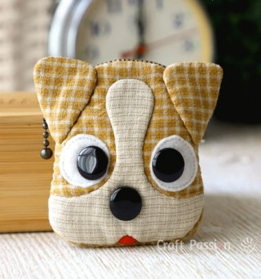 DIY Dog coin purse - Jack Russell Terrier (free sewing pattern) // Kutya pénztárca- Jack Russell Terrier (ingyenes szabásminta) // Mindy - craft tutorial collection // #crafts #DIY #craftTutorial #tutorial