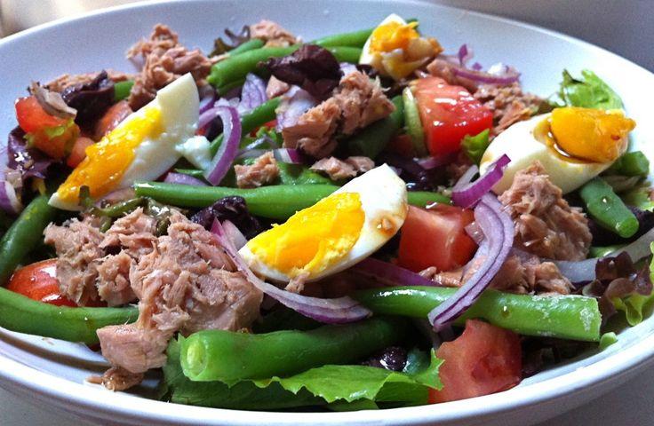 Klassieke salade Niçoise - Chickslovefood