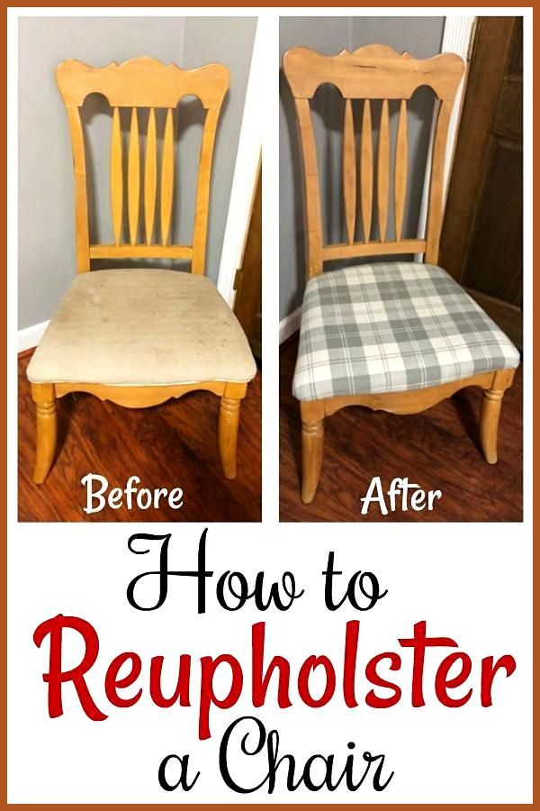Thrift Store Upcycle How to Reupholster a Chair in 2020