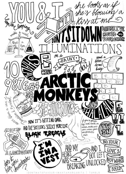CHECK THIS OUT! Arctic Monkeys typography illustration | Creative Bloq