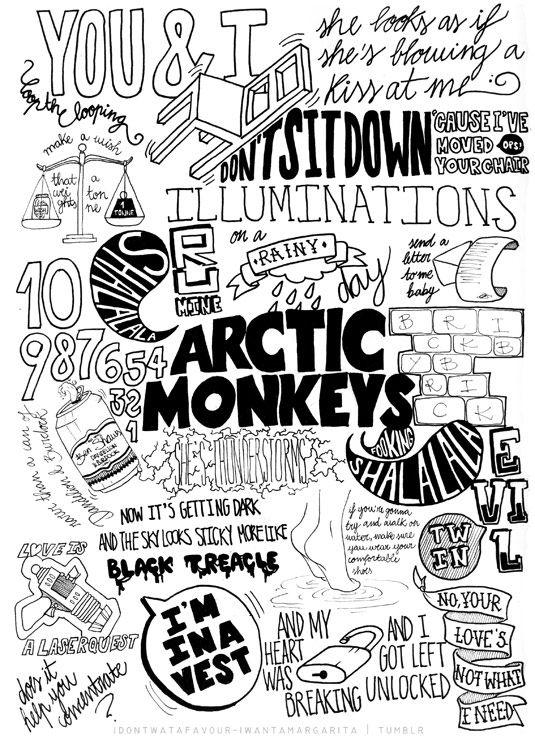 Arctic Monkeys typography illustration |