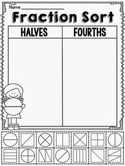 Miss Giraffe's Class: Fractions in First Grade