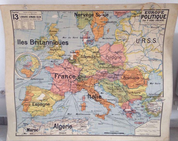 carte scolaire vidal lablache n 13 europe politique chambre bleue pinterest. Black Bedroom Furniture Sets. Home Design Ideas