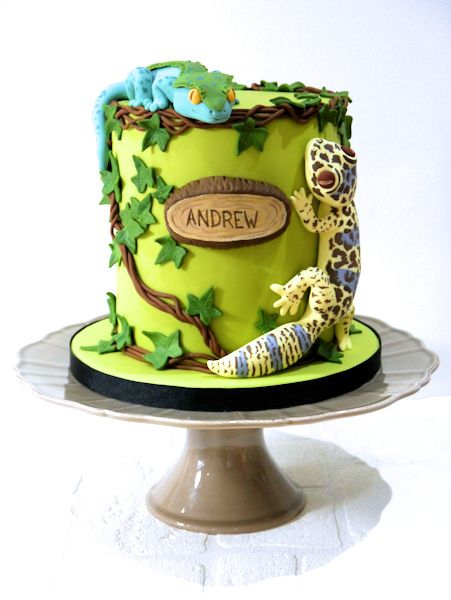 Gecko Cake Special Events Cakes Amp Sweets Pinterest