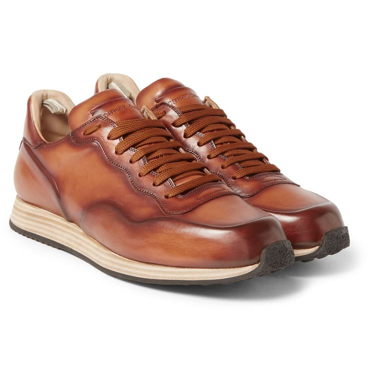 Officine Creative - Keino Polished-Leather Sneakers