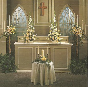 Altar decorations wedding chapels and church weddings on for Altar decoration ideas