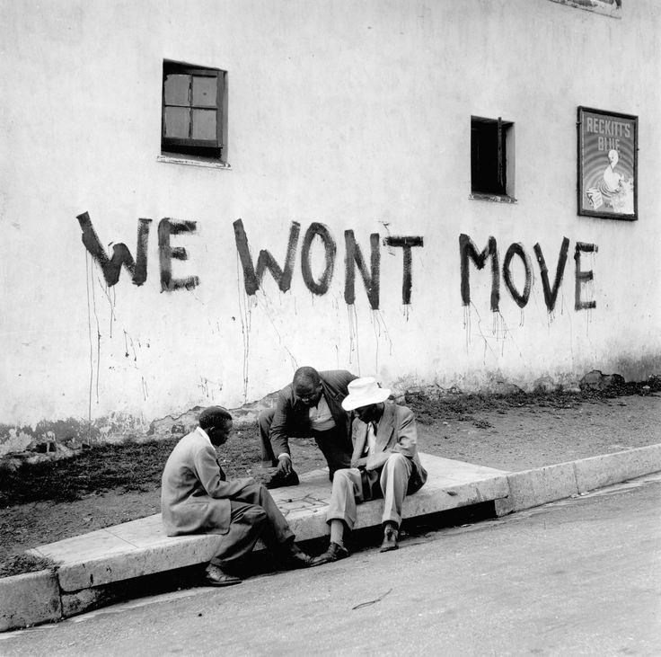 "Jürgen SCHADEBERG :: ""we wont move"", Sophiatown, 1950s"