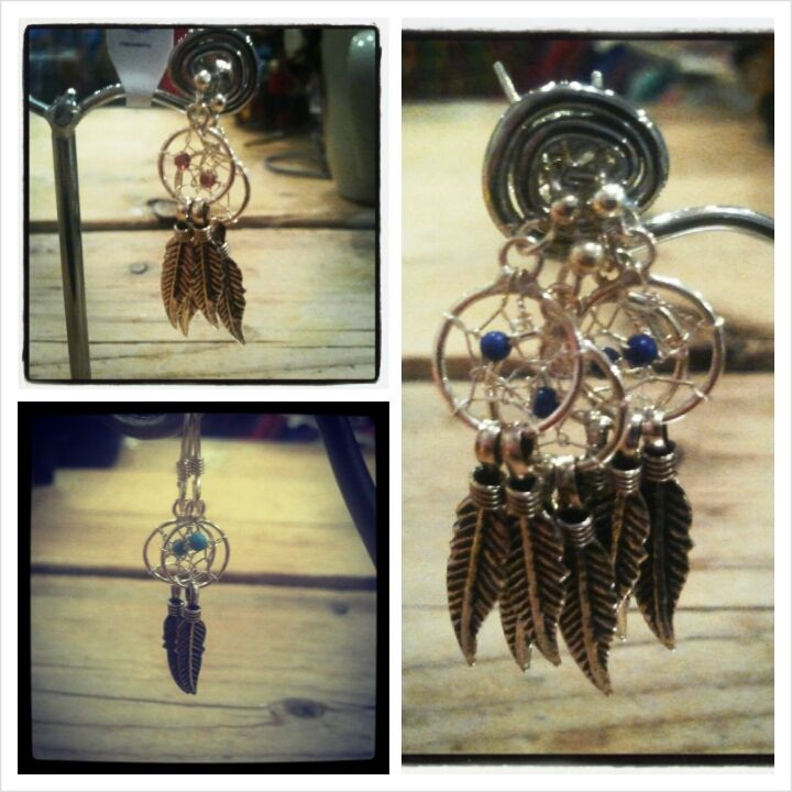 Dromenvanger oorbellen / dream catcher earrings