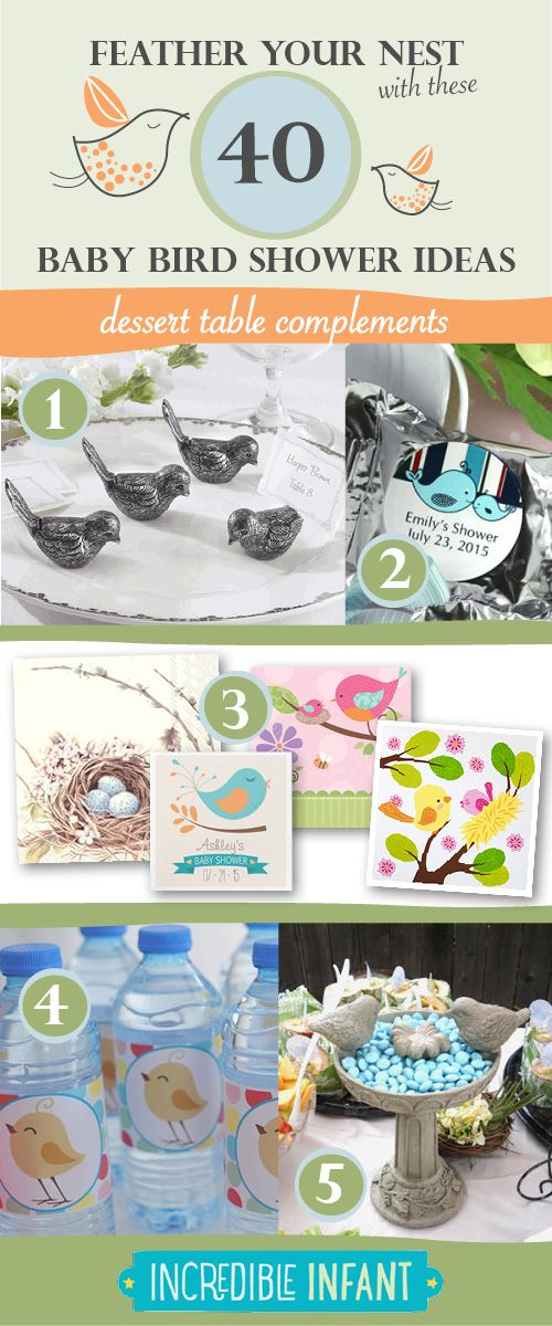 40 Bird Baby Shower Ideas to Feather Your Nest - Dessert Table Ideas - http://www.incredibleinfant.com