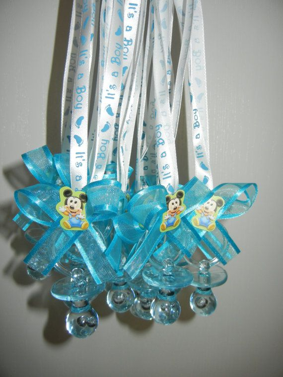Baby Mickey Mouse Baby Shower Pacifier Necklace Game By DreemsGate