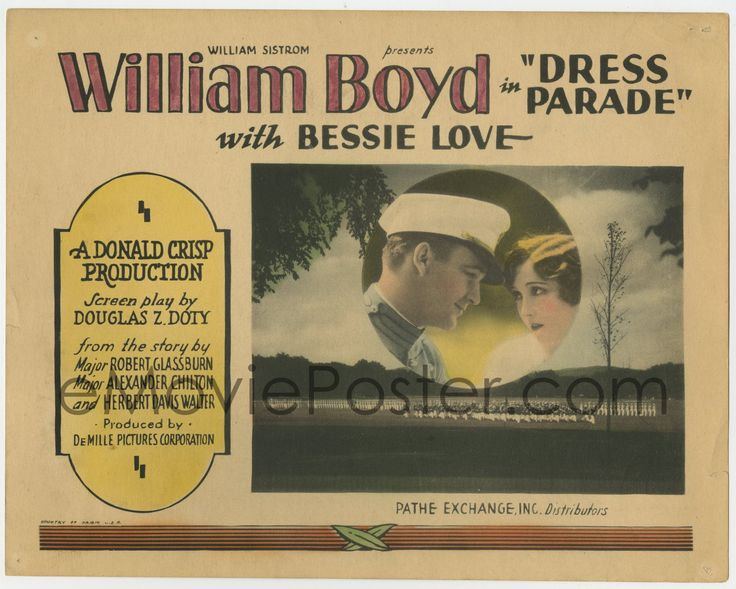 eMoviePoster.com Image For: 4s121 DRESS PARADE TC '27 great border art of boxing champ William Boyd turned West Point cadet!