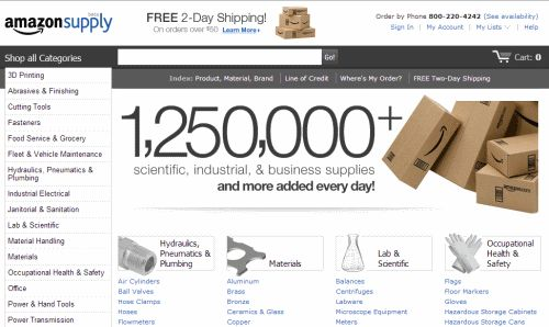 Screenshot: amazonsupply.com