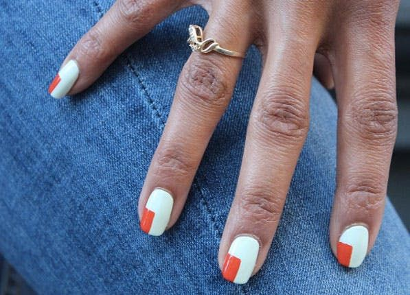 8 Pretty, Minimalist Nail Art Ideas  via @PureWow