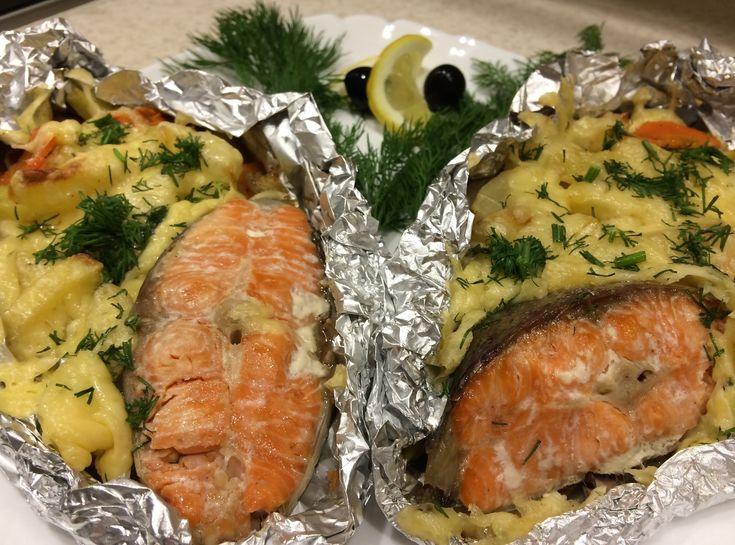 Очень вкусная запеченная рыба в фольге!
