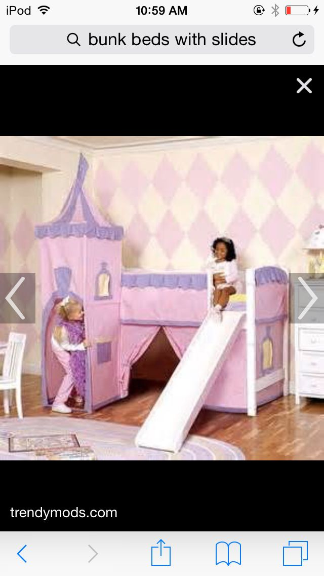 castle bunk bed with slide for girls - Etagenbetten Fr Teenager Jungen