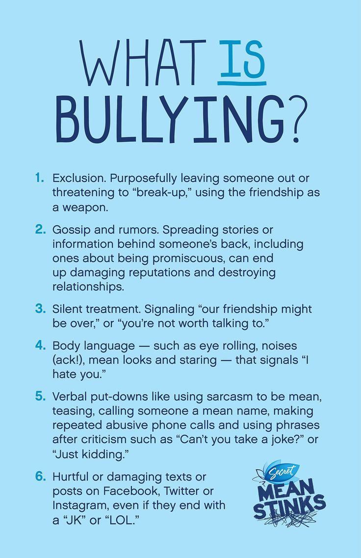 Bullying humiliation and exclusion are all