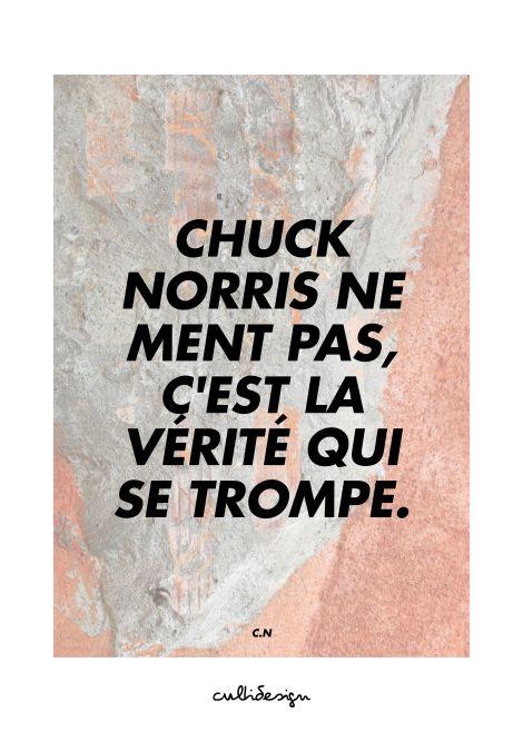 Chuck norris ne ment pas, c'est la vérité qui se trompe. // C.N