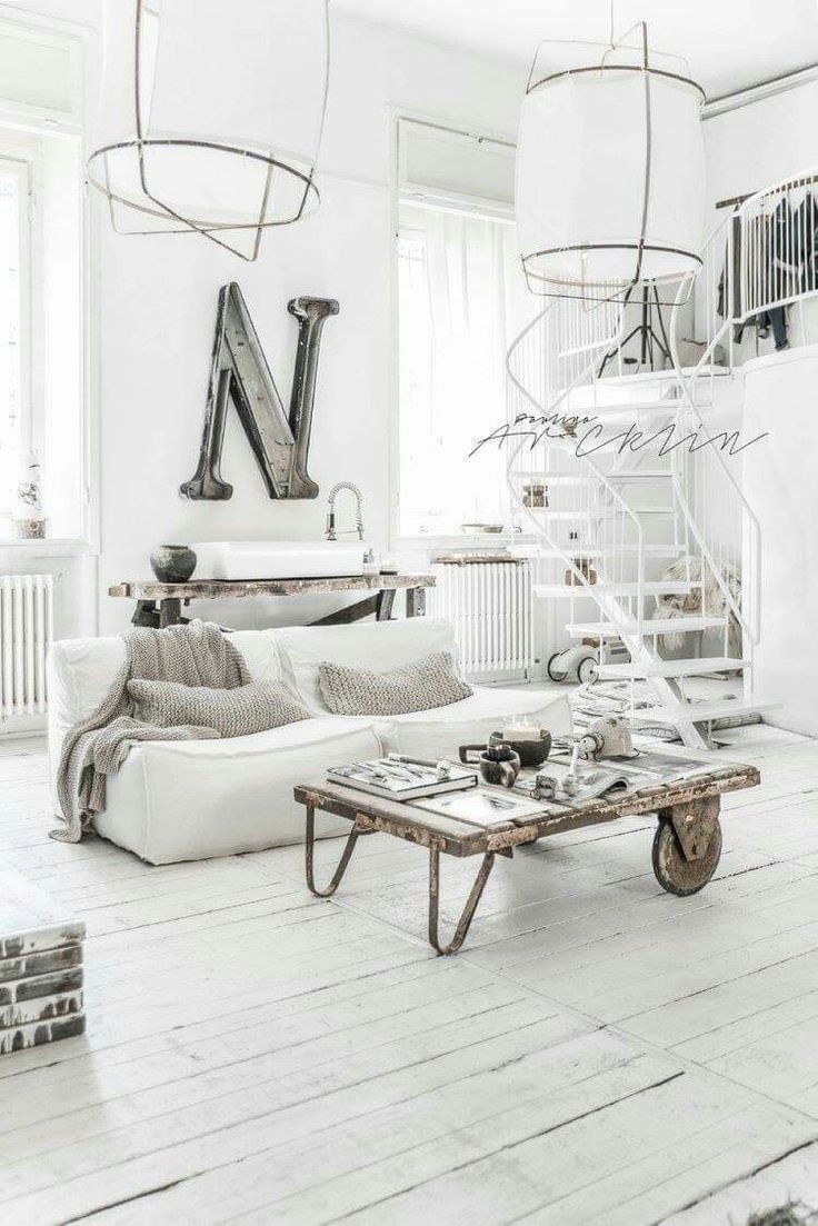 Evelyne home interiors interior and exterior decoration velas - Industrial Interiors Home Interiors Scandinavian Interiors Scandinavian Living Design Interiors Studio Spaces Loft Studio White Linens Photo Studio