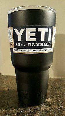 http://www.idecz.com/category/Yeti-Tumbler/ YETI Rambler Tumbler Cup Mug MATTE BLACK 30oz Stainless Steel Cooler NEW