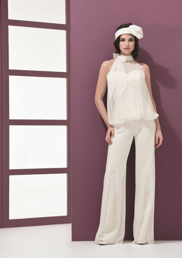 ENSEMBLE PANTALON EQUESTRE Créateurs Vente robes et accessoires de mariée Marseille - Sonia. B
