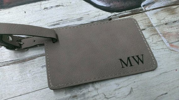 Personalized Leather Luggage Tag, Custom Luggage Tag, Luggage Tag Personalized, Monogram Luggage Tag, Travel Accessories  Choose your own FONT!