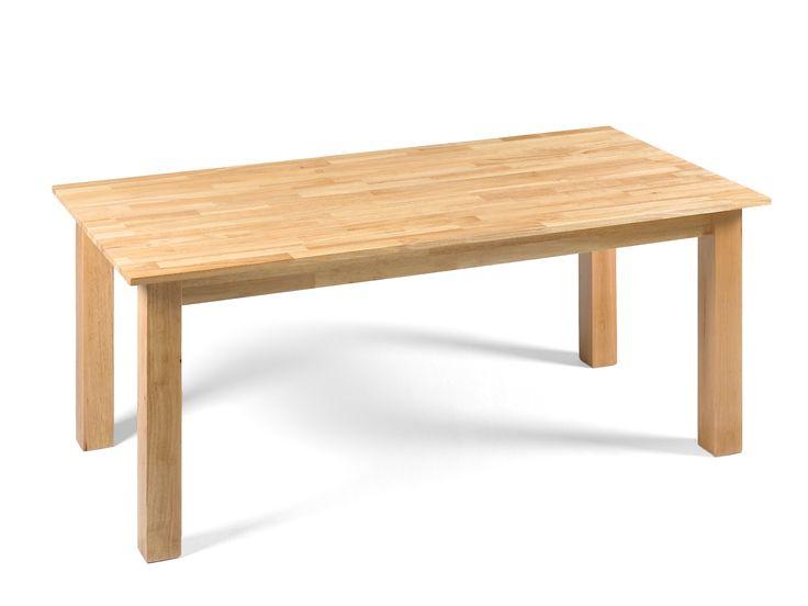 Table NATURA en hévéa massif naturel pour salle à manger | Massivum